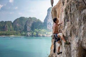 Climbing at Tonsai Bay