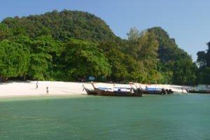 Longtail boats at Hong Island