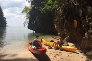 Kayak in Thalane Bay